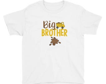 YOUTH TEE Big Brother Shirt Pregnancy Announcement Brother Gift Promoted Big Brother Soon To Brother  Big Brother T-shirt Boys Graphic Tee