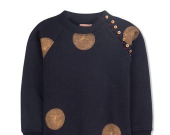 Lilli Unique Girls' Navy Blue Sweater