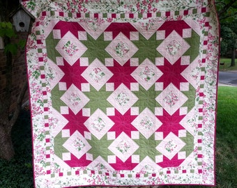 SALE, Buy 2/Get 1 Free -- GEMINI SKY, pdf quilt pattern, 2 sizes (Large Throw and Queen)