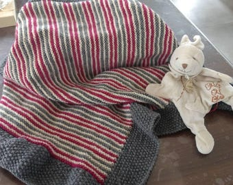 Striped baby blanket 3 colors