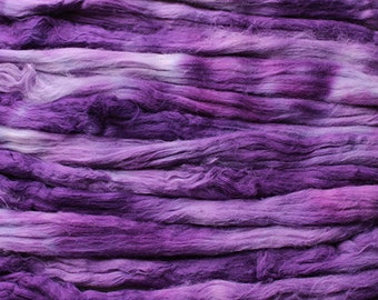 Cotton roving for spinning - Grape Tonal , 1 oz