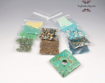 Inspiration Kit #82, African Turquoise, Beads, Crystals