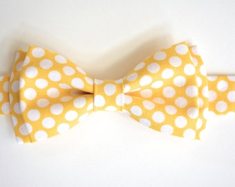 free swatchesYellow and white polka dots Bow Tie,kids bow tie, baby bow tie