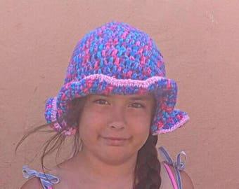 Chapeau au crochet super mignon. Choisissez vos couleurs! Crochet chapeau, Bob, chapeau enfant en bas âge, chapeau enfant, chapeau ADO, adulte chapeau, chapeau de soleil, chapeau de plage