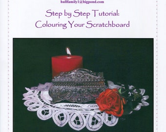 Step by Step Art Tutorial - Adding Colour to Your Scratchboard Artworks