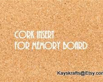 Add A Cork Insert To Your Memory Board French Memo Board To Use As A Cork Memory Board