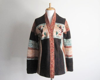25% OFF - Vintage 80s Native American Tree Sweater  - L