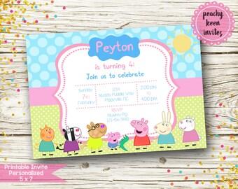 Peppa Pig Inspired Birthday Invitation [DIGITAL]