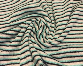 Stretch Jersey Knit Mini  Ribbed  Fabric 1-1/4  Yards