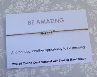 Be Amazing Friendship Bracelet