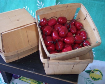 1 Quart Berry Basket – Set of 6 – Wooden Berry Basket – Farmers Market