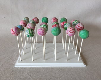 24 Count Cake Pop Stand.  Custom Sizes and Shapes Available.