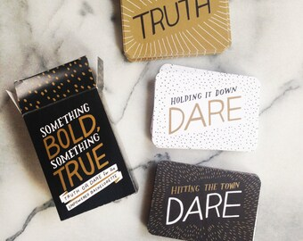 Bachelorette Truth or Dare Game - Feminist, LGBT Friendly Party Game - Something Bold, Something True