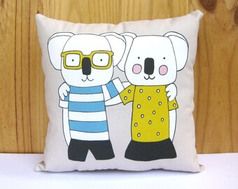 Koalo & Koala Cushion, Koala Throw Pillow, Koala Pillow, Animal Cushion, Animal Pillow, Decorative Cushion, Decorative Pillow