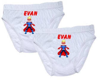 Boys pants hero personalized with name