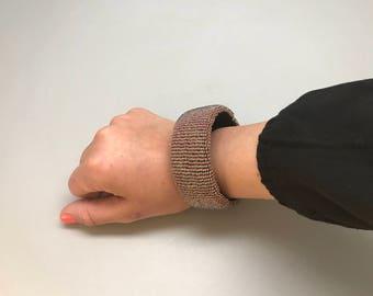 Purple handmade beaded bracelet