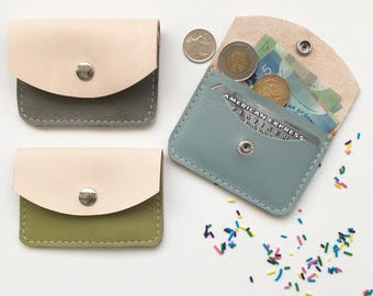 The Ice Cream Leather Wallet/ Coin Purse/ Business Card Holder