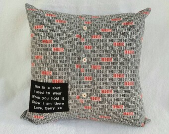 Memory cushion made from a shirt
