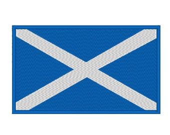 Scotland Scottish Flag Embroidery Design