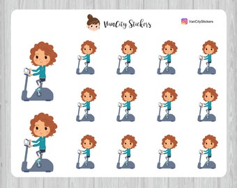 Elliptical Stickers, Fitness Stickers, Stacy Stickers