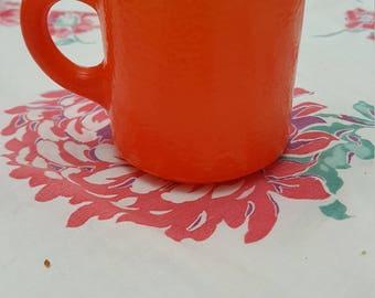 Vintage sweet Hazel Atlas Orange coffee mug