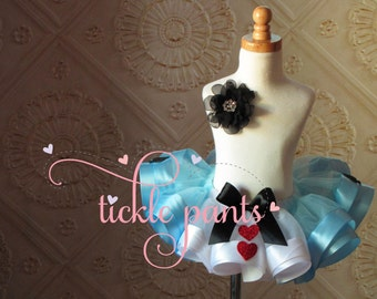 Alice in Wonderland tutu, Mad Hatter, Tea party, 1st birthday tutu, Queen of hearts- Made in all sizes