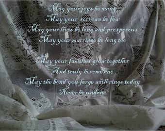 Wedding Blessing Prayer Digital Print Marriage Prayer