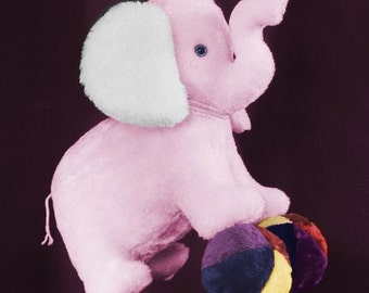Sewing Pattern for a Giant Elephant and Ball Stuffed Animal Pattern Design from Fantasy Creations