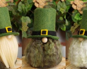 Gnome, Irish LEPRECHAUN Gnome, St Patrick's Day, SEAMUS, Green, Irish Gnome, Irish Gifts, Ireland, Irish Folklore, Irish Stories, Gnome Home