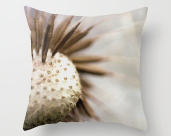 Throw Pillow Cover Includes Pillow Insert - Dandelion Photography - Nature Pillow - Dandelion Wishes - Home Decor - Made to Order