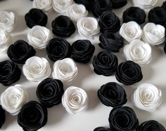 Black and White Mini Paper Flowers.