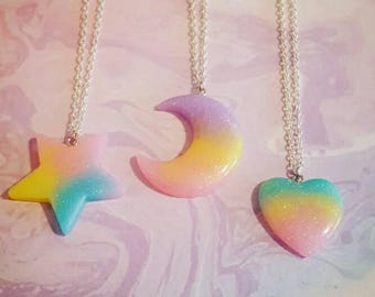 Kawaii Pastel Resin Charm Necklace