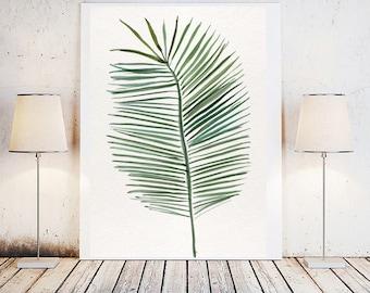 Palm leaf print, leaf print, Printable leaf palm, Printable palm leaf, Plant leave print, Botanical leaf print, Palm leaf prints