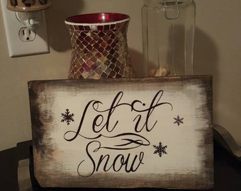 Let it snow. Holiday decor.