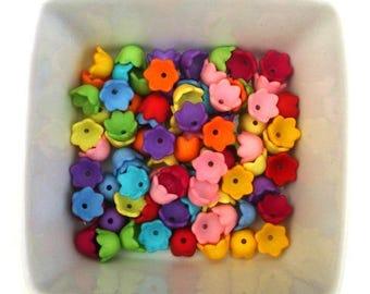 Set of 20 Tulip beads 9mm acrylic