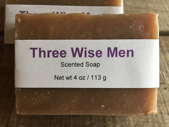 Three Wise Men—Frankincense and Myrrh Scented Cold Process Soap with Shea Butter