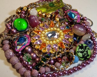 Vintage Mardi Gras Colors Repurpose Lot