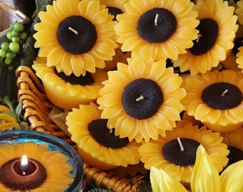 Sunflowers, Box of 4, Floating Candles