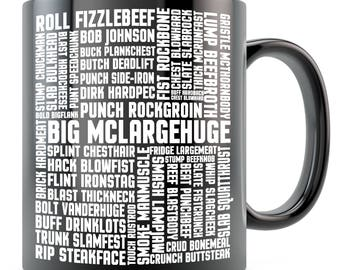 Mystery Science Theater 3000 MST3K Tom Servo Crow Robot Big McLargehuge - Many Names of David Ryder Space Mutiny Mug - Black/Whit 11oz 15oz