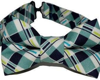 Bow Tie - Blue Plaid Bowtie