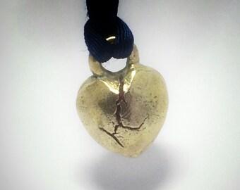Split Heart Pendant 100% Bronze