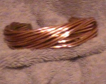 12 WIRE NATURAL Copper Bracelet