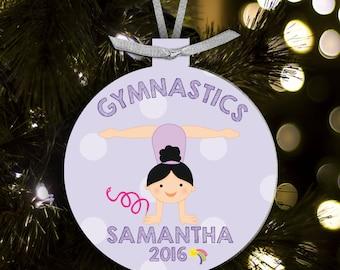 gymnastics ornament - gift for gymnasts - gymnastics girl GYMO