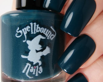 Witching Hour - Dark Blue Teal Creme Nail Polish