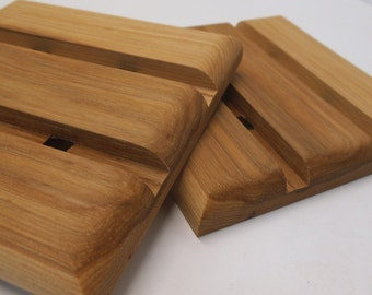 Wooden Trivets (set of two), hot pads, solid wood, gift for her, gift for him