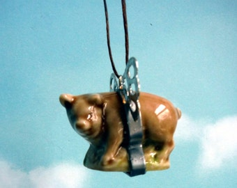 Itsy Bitsy Little Flying Pig Car Mirror Accessory