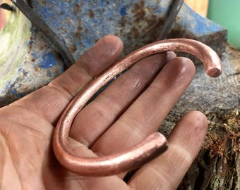 Chunky copper bangle