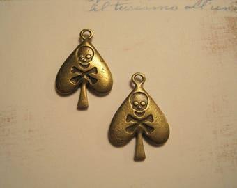 A pendant as bronze spade pirate steampunk