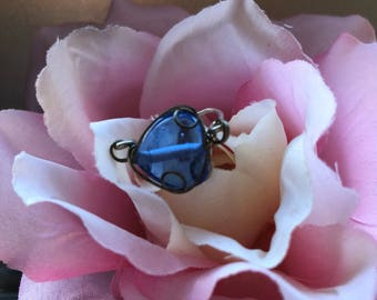 Wire Wrapped Blue Ring