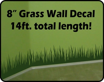 Grass Wall Decal border - removable vinyl wall border art decor / grass wall decal for nursery / room border decal / nursery wall decor